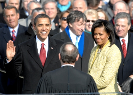 http://en.wikipedia.org/wiki/File:US_President_Barack_Obama_taking_his_Oath_of_Office_-_2009Jan20.jpg
