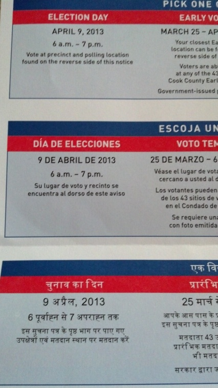 Translation of Voter Information